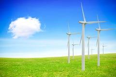 Sources d'énergie renouvelables Images libres de droits