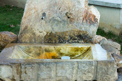 Sources d'eau minérale de Rupite en Bulgarie Images libres de droits