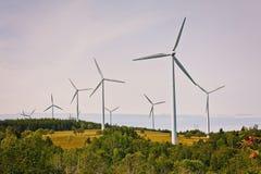 Sources d'énergie alternatives éoliennes Photos libres de droits