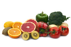 Sources de nourriture de vitamine C Image libre de droits