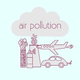 Sources de pollution atmosphérique Image stock