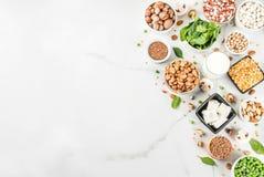 Sources de protéine de Vegan photo stock