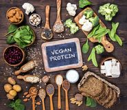 Sources de protéine de Vegan images stock