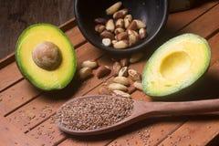 Sources des graisses saines images stock