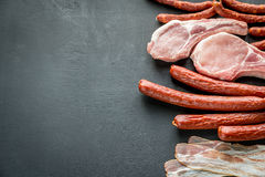 Sources of saturated fats Royalty Free Stock Images