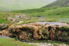 Sources thermales dans Hveragerdi, l'Islande Photo stock