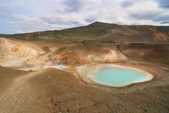 Sources thermales de cratère de Viti Photographie stock