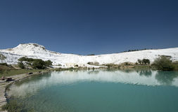 Sources thermales de Pamukkale, course vers la Turquie Photo stock