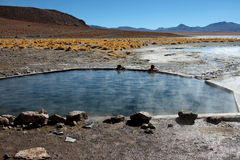 Sources thermales en Bolivie Photographie stock