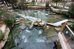 Sources thermales Turquie de Hierapolis Photo stock