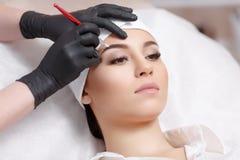 Sourcils permanents de maquillage Image libre de droits