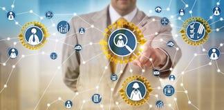 Sourcing del reclutatore via acquisizione App di talento immagine stock libera da diritti