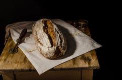 Sourdough домодельного хлеба деревенский Стоковое Фото