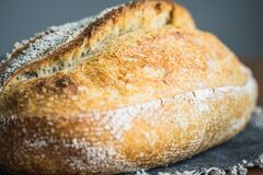 Free Sourdough Artisan Bread Loaf Of Traditional Homemade Rye Starter Royalty Free Stock Photos - 187879268