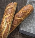 Sourdough Baguettes Royalty Free Stock Images