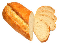Sourdough Bloomer Bread Loaf Stock Photo