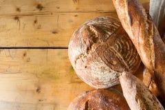 Sourdough bread and baguettes Stock Photo