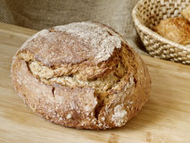 Sourdough Bread on Breadboard Stock Photography