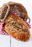 Sourdough bread with seeds and grains Royalty Free Stock Photos