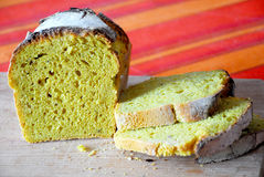 Sourdough chleb z turmeric Zdjęcia Royalty Free