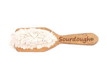 Sourdough dried on shovel Royalty Free Stock Photo