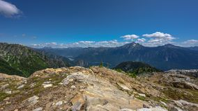 Sourdough Lookout Time Lapse on Sunny Summer afternoon. In North Cascades stock video footage