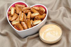 Sourdough nuggets pretzel Royalty Free Stock Photo