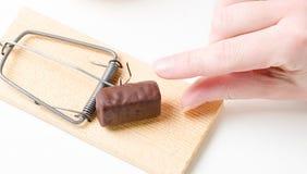 Souricière à clapet de régime avec du chocolat Photographie stock libre de droits