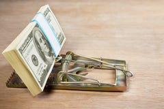 Souricière avec l'amorce d'argent Photo libre de droits