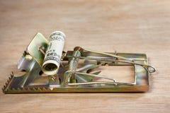 Souricière avec l'amorce d'argent Image stock