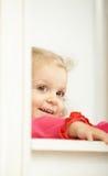 Sourire âgé de deux ans heureux Image libre de droits