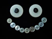 Sourire 2 de boutons image libre de droits