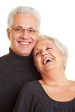 Sourire aîné heureux de couples Photo libre de droits