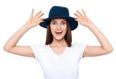 Sourire amical de fille Photographie stock libre de droits
