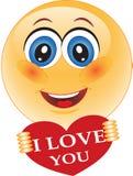 Sourire, amour, Valentine Photos stock