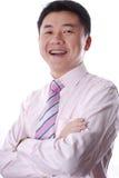 Sourire asiatique d'homme d'affaires Images stock