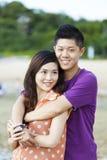 Sourire asiatique de couples Images stock