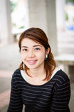 Sourire asiatique de femme Photos libres de droits