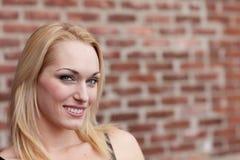 Sourire assez blond Photo libre de droits