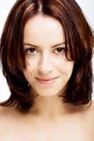 Sourire attrayant de brunette Photos stock