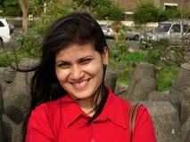 Sourire avec du charme Image libre de droits