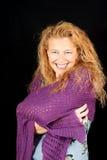 Sourire blond de femme photo libre de droits