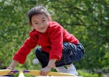 sourire chinois d'enfants Photos stock