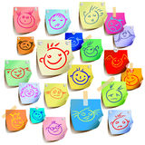 Sourire coloré Photographie stock