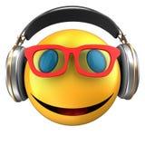 sourire d'émoticône du jaune 3d Images stock