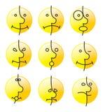 Sourire d'émotion Image libre de droits