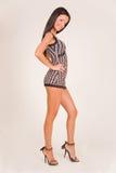 sourire d'équipement de fille de mode Photo libre de droits