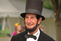 Sourire d'Abraham Lincoln Photo stock