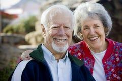 sourire d'aîné de couples Image libre de droits