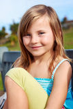 Sourire d'enfant de fille Photo stock